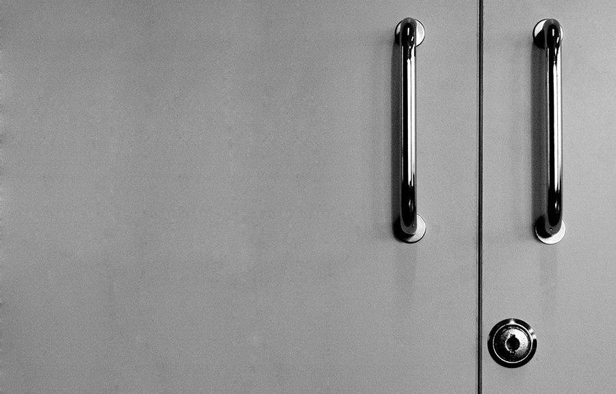 Imagen de la cerradura de un armario