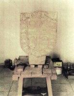 Restauración del Escudo Gótico de la Iruela. Imágenes del resultado del proceso de restauración del mismo.